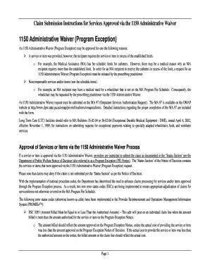 Medical waiver sample letter forms and templates fillable 1150 waiver program form spiritdancerdesigns Gallery