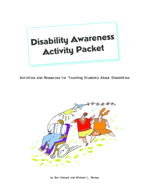 Activity overview disability awareness