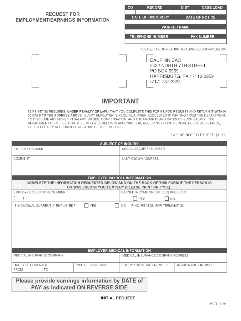 Form Pa 1897 Fill Online Printable Fillable Blank