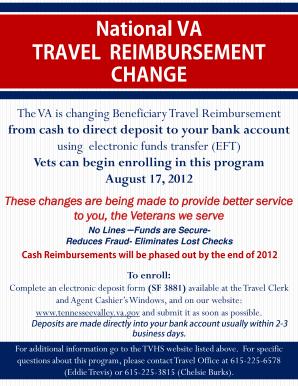 Va Travel Reimbursement Direct Deposit - Fill Online, Printable ...