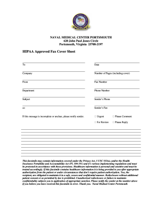 Navy Fax Cover Sheet - Fill Online, Printable, Fillable, Blank ...
