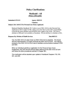 Dpw Ssa1610 U2 - Fill Online, Printable, Fillable, Blank | PDFfiller
