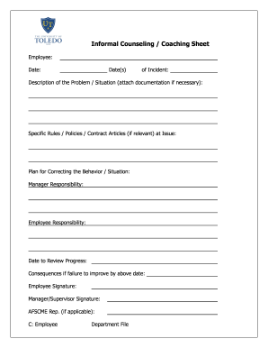 Informal Counseling Form - Fill Online, Printable, Fillable, Blank ...