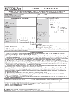 New York City Housing Authority Employer Form - Fill ...