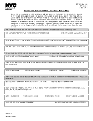 How To Fill Out Parent Affidavit Of Residency - Fill Online ...