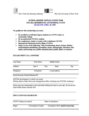 nycha housing application pdf Forms and Templates - Fillable ...