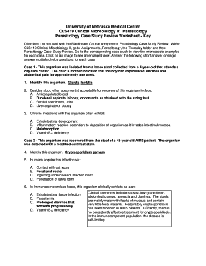 Medical Parasitology Worksheet - Fill Online, Printable, Fillable