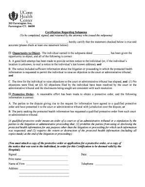 Fillable Online Letter Regarding Subpoena With Assurances And