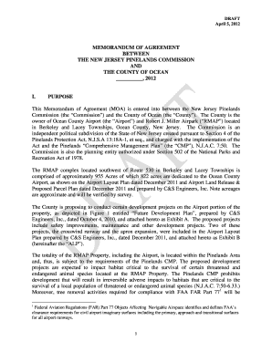 MEMORANDUM OF AGREEMENT BETWEEN ... - State of New Jersey - nj
