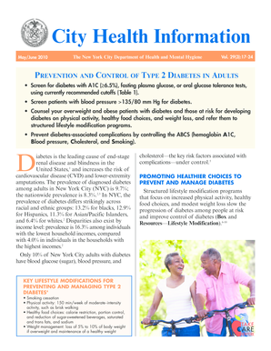 City Health Information: Prevention and Control of Type - NYC . gov - nyc