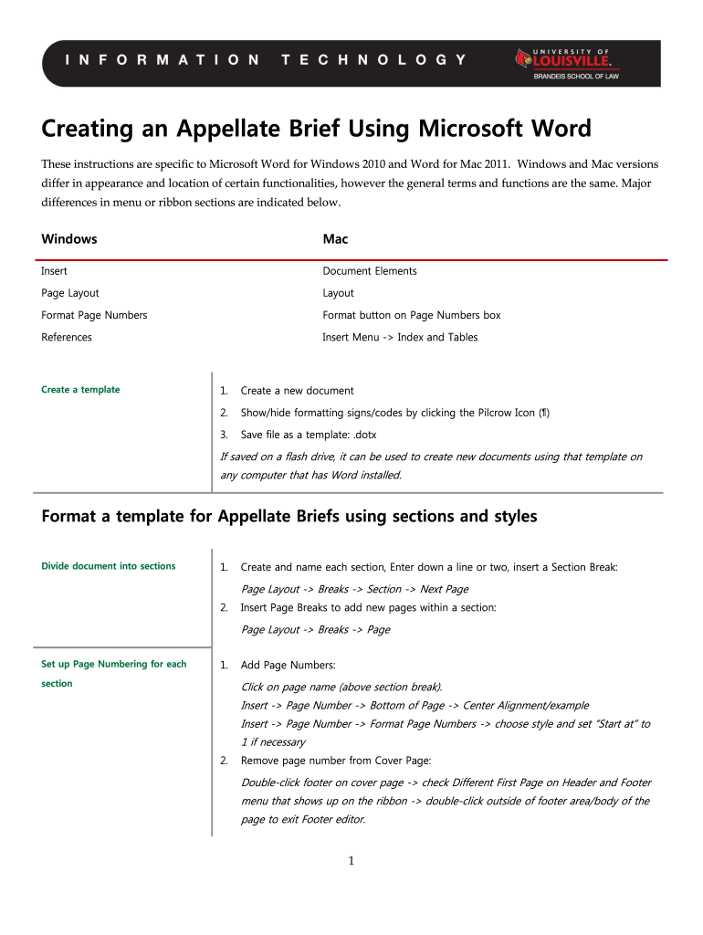 appellate brief template microsoft word 2010