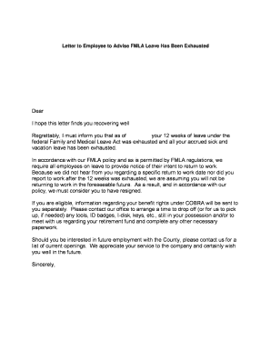 leave letter for employee fill online printable fillable blank