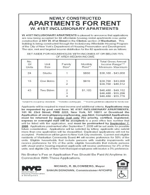25 Printable nyc low income housing application Forms and ...