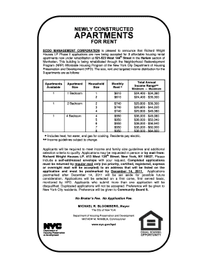 richard wright nrp apartment applications form