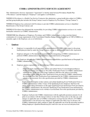 employer administrative services agreement template form