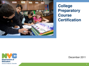 College Preparatory Course Certification - schools nyc