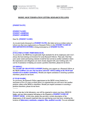 Employment Termination Letter Forms and Templates - Fillable ...
