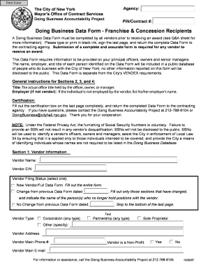 Doing Business Data Form - Fill Online, Printable, Fillable, Blank ...