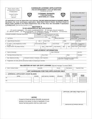 Gun Permit In Ny - Fill Online, Printable, Fillable, Blank   PDFfiller