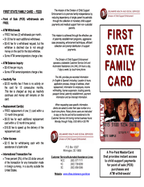 first state family card First State Family Card - Fill Online, Printable, Fillable, Blank ...