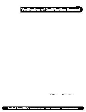 Nbcot Verification Certification Request Fill Online Printable