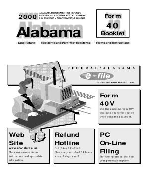 state of alabama form 40 instructions