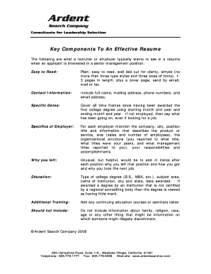 Typable Acting Resume Form