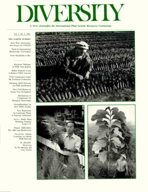 A News Journalfor the International Plant Genetic Resources Community Vol