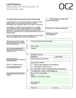 land registry oc2 form