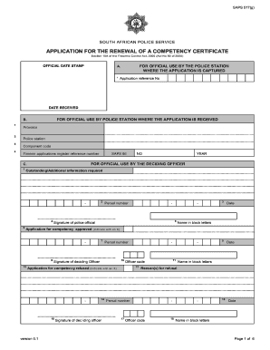 south african police service forms