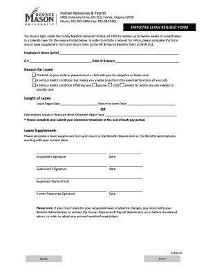 gmu payroll Forms and Templates - Fillable & Printable Samples for ...