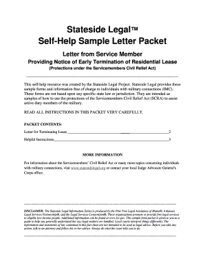 early termination letter from landlord to tenant - Termination Letter For Tenant From Landlord