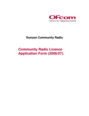 Dunoon Community Radio - Ofcom Licensing - licensing ofcom org