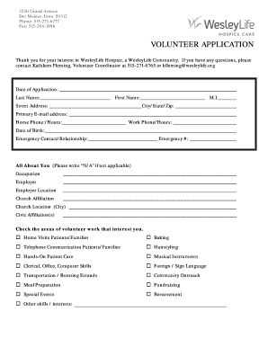sample hospice forms