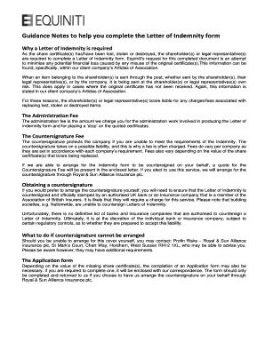 Letter of indemnity fill online printable fillable blank letter of indemnity altavistaventures Images