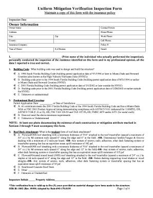 Fillable Online nachi Uniform Mitigation Verification Inspection ...