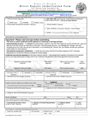 direct deposit request form for state of oregon employee