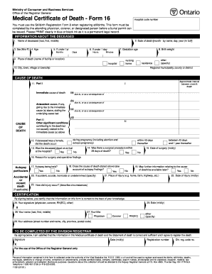 Fill In The Blank Death Certificate - Fill Online, Printable ...