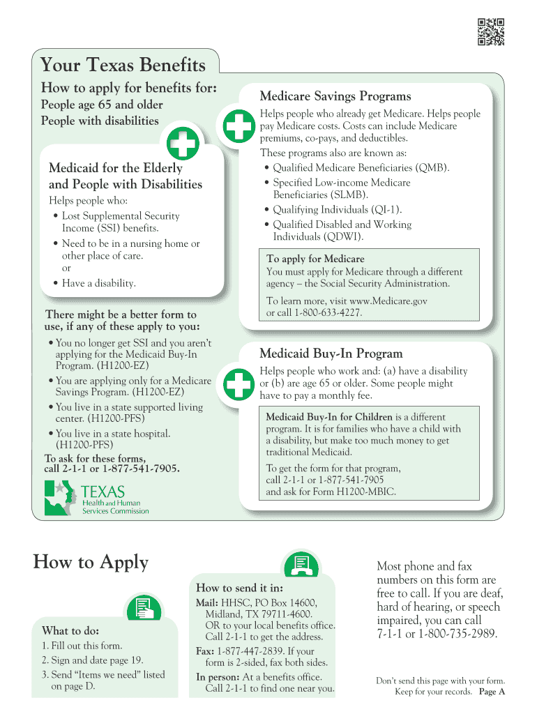 H1200 Medicaid Application - Fill Online, Printable