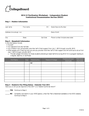 Worksheets Dependent Verification Worksheet collection of verification worksheet sharebrowse how to fill out idoc form online