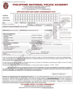 Pnpa Online Application - Fill Online, Printable, Fillable ...