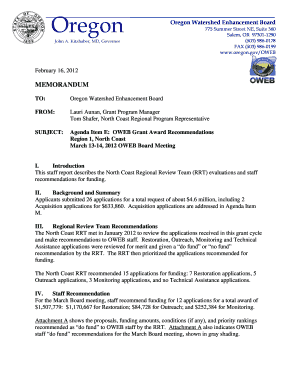OWEB Letterhead electronic.dotx. Portland General Electric: (Docket No. UF 4268) Application requesting authorization to enter into a revolving credit agreement for a term of up to five years in an amount up to $300 million.