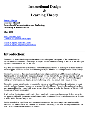 Fillable Online Usask Learning Theories Of Instructional Design University Of Usask Fax Email Print Pdffiller