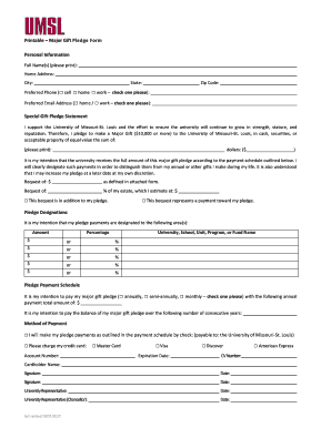 gift pledge form