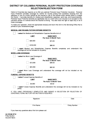 Fillable Online DC PIP Coverage Selection Form i.pdf - 21st ...
