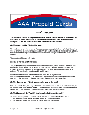 prepaid gift balance register card - Edit & Fill Out Top