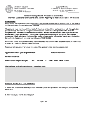interview questions for students applying to college - Fill Out