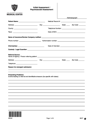 Initial Assessment Form