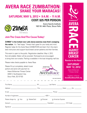 zumba flyers form