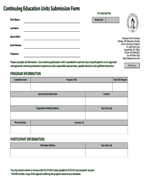sponsorship form arkansas tech